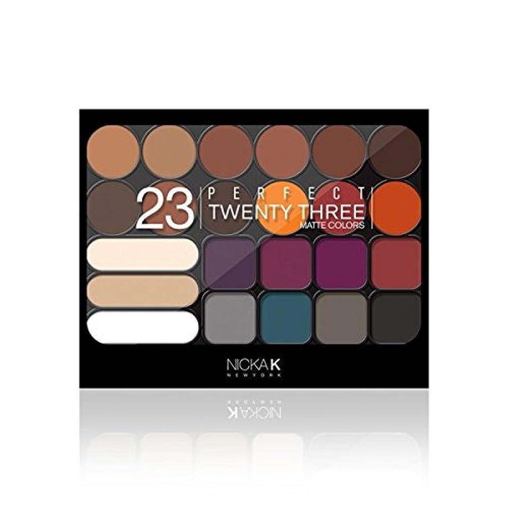 染色変数ビバ(3 Pack) NICKA K Perfect Twenty-Three Colors (Matte) Eyeshadow Palette 02 (AP9B) (並行輸入品)
