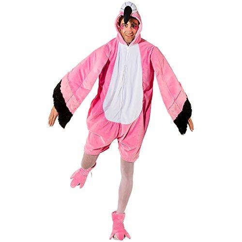 Unisex Kostüm Flamingo kurz OneSize Flamingokostüm Tier Vogel Fasching Karneval