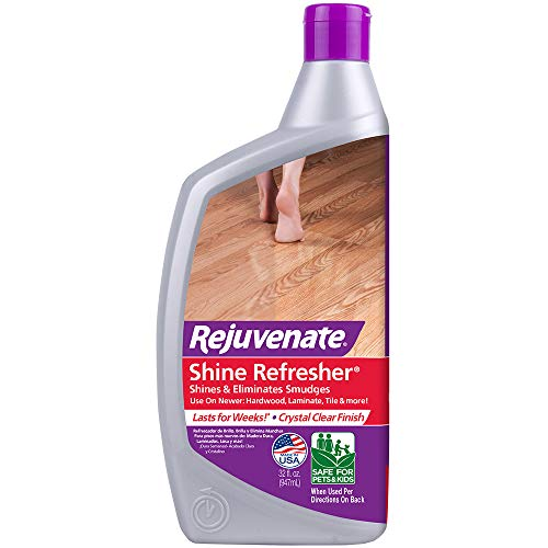 Rejuvenate Shine Refresher Hardwood Polish Restorer Removes Scratches from Wood Floors Restores Shine and Protects Laminate Linoleum Tile Vinyl and more