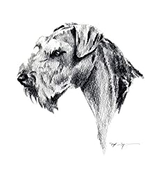 image of an Airedale Terrier pencil drawing