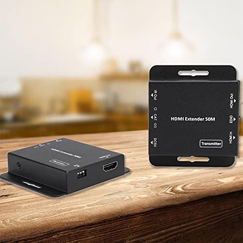 Tomanbery Receptor HDMI Audio Digital 12 bits/Color Black Metal 2Pcs Extensor de Video (para Dolby TrueHD/Dolby Digital(European regulations)