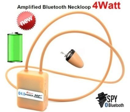 Smartcheater Wireless Invisible Spy Nano Earpiece with Bluetooth Neckloop - Cheat Exam