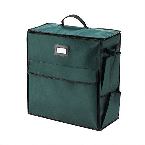 Elf Stor Ultimate Organizer Holiday Storage for Gift Wrap and Bags, Green