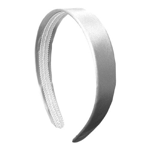 White 1 Inch Satin Hard Headband