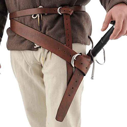Espada De Cuero Renacentista Medieval Rana Larp Accesorio para Disfraz Rapier Caballero Espada Cinturn Rana Daga De Cuero Funda De Espada Pirata para Hombre Y Mujer