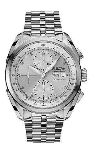 Bulova Accu Swiss Tellaro-Orologio da uomo con Display con cronografo e cinturino in acciaio INOX color argento 63C120