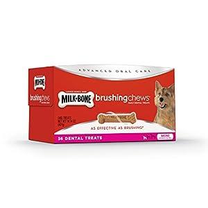 Milk-Bone Brushing Chews Daily Dental Mini Dog Treats Value Pack, 36 count 14.14 Ounce