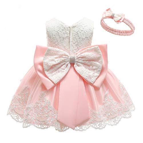 Gaga city flicka rosett spets prinsessa klänning blomma flicka klänning klänning klänning klänning klänning klänning festligt klänning bröllop födelsedag festklänning festklänning babykläder Outfits 3 månader – 6 år