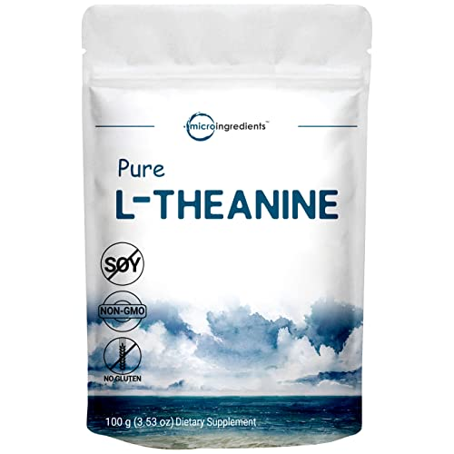 Pure L-Theanine Powder, 100 Grams, Supports Stress, Anxiety Relief and...