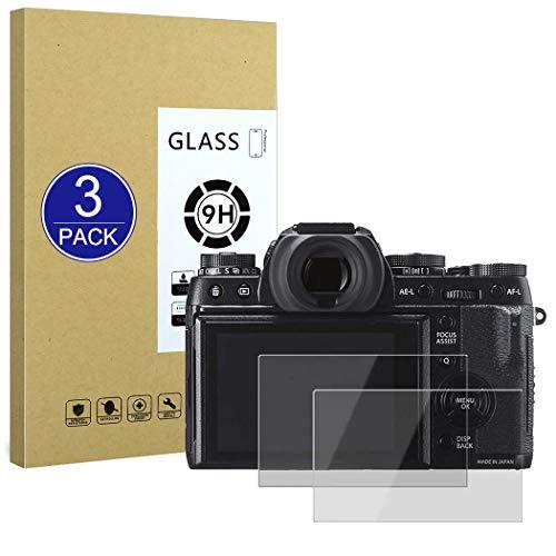 X-Dision Protector de Pantalla Compatible con Fujifilm X-T1/X-T2/XA3/XA5,[Resistente a Rayones,Fácil de Instalar,Dureza 9H], [3 Piezas] Película de Vidrio Templado para Fujifilm X-T1/X-T2/XA3/XA5