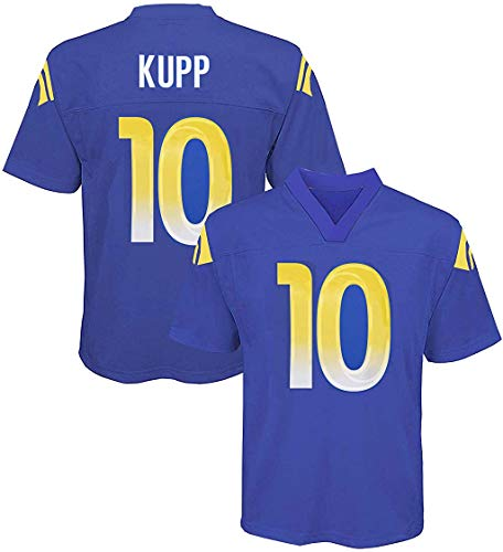Outerstuff Cooper Kupp Los Angeles Rams NFL Boys Youth 8-20 Royal Blue Home Mid-Tier Jersey (Youth Large 14-16)