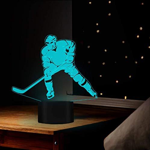 Eishockey Bewegung Design Nacht Nächte 16 Wechselnden Farben Ideales Geschenk Für Kinder Freund Liebhaber Room Store Kreatives Dekor 7 farben