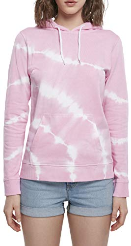 Urban Classics Ladies Tie Dye Hoody Sweatshirt Capuche, Rose Girly, 5X-Large Femme