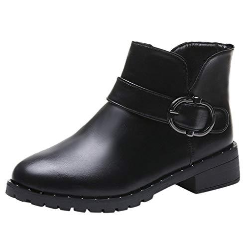 ODJOY-FAN-Donne Scarpe tacco alto Martain Boot Pelle tinta...