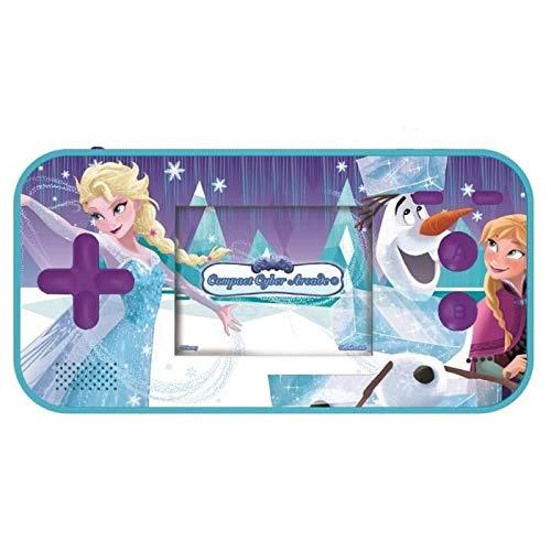 Lexibook JL2367FZ Disney Frozen Die Eiskönigin ELSA Compact Cyber Arcade Tragbare Spielkonsole, 150 Gaming, LCD, Batteriebetrieben, Blau