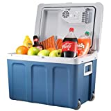 Knox Electric Cooler and Warmer for Car and Home with Wheels - 48 Quart (45 Liter) Holds 60 Cans or...
