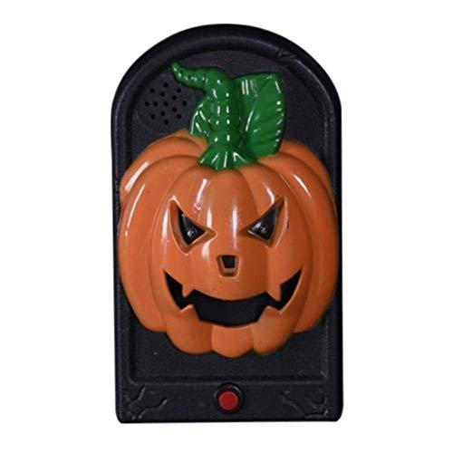 SGAHEIWI Halloween Horror Türklingel Schädel Kürbis Vampir beleuchten Türklingel Halloween Sound und Licht Requisiten, d