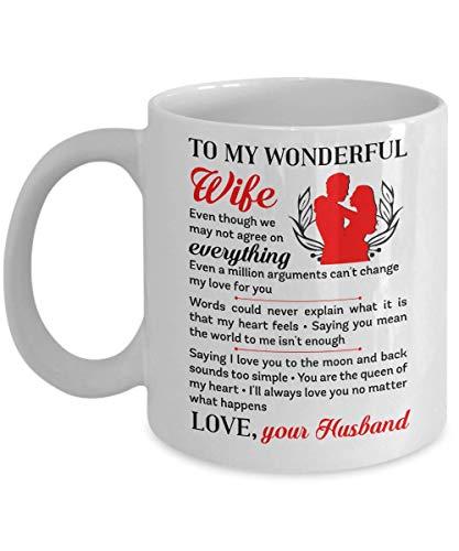 Cofesión romántica Incluso un millón de discusiones entre nosotros no pueden cambiar mi amor por ti - Regalo blanco para esposo, esposa, novia, novio, aniversario de bodas, cumpleaños de Navidad
