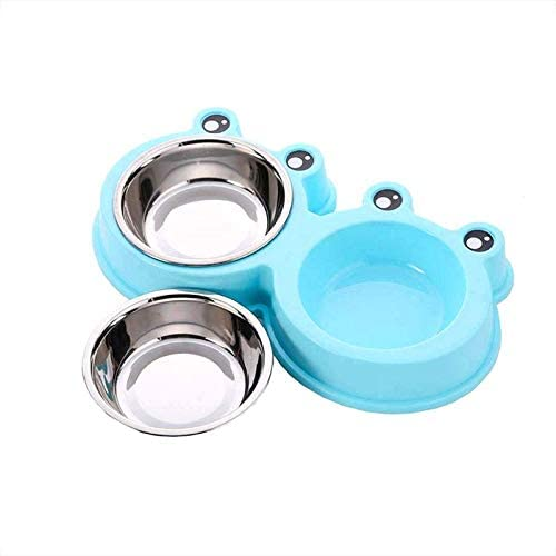 Mumoo Bear Stainless Steel Pet Dog Cat Double Bowl Feeder Set for Small Medium Dog Food Water Feeding Dogs Cats Water...