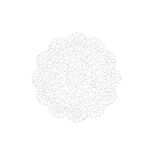 Papierdeko PD192, 'Rosette', 10 Stück, perlmutt, 5 cm Ø