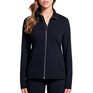 Skechers Ladies' Full Zip Fleece (Black, Medium)