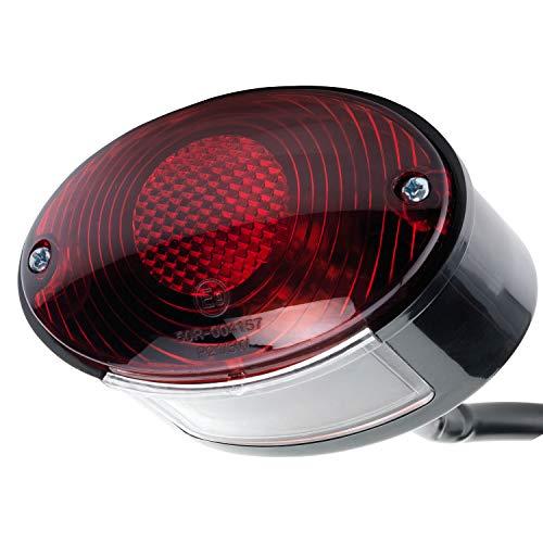 Motorrad Rücklicht Bremslicht mit Kennzeichenleuchte Cateye Cat Eye E-geprüft 12V