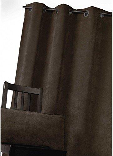 Homemaison gordijn, velours, polyester, taupe, 260 x 140 cm
