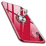 bafeibili Funda para iPhone 11 de silicona TPU transparente con anillo giratorio 360° para soporte magnético de coche, antigolpes y antiarañazos, para iPhone 11 de 6,1 pulgadas