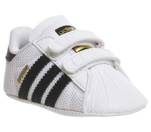 Adidas Superstar Crib, Zapatillas Unisex Bebé, Multicolor (Blanco/Negro), 18 EU