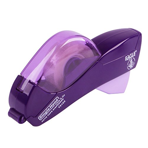Eagle Automatic Tape Dispenser, Tape Gun, Single Handheld Design, Free 1 Roll of 0.5 Inch (12 mm) and 1 Roll of 0.75 Inch (19 mm) Tapes (Purple)