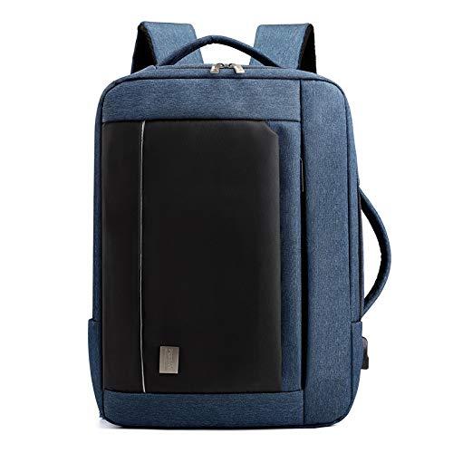 Wznb Rugzak voor heren, waterdicht, nylon rugzak, grote capaciteit, reistas, laptoptas, 16 inch, donkerblauw (blauw) - WZNB-8213452800