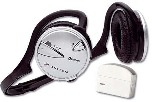 ANYCOM BluNa Bluetooth Adapter für iPod Nano schwarz & ANYCOM BSH 100 faltbares Bluetooth Stereo Headset