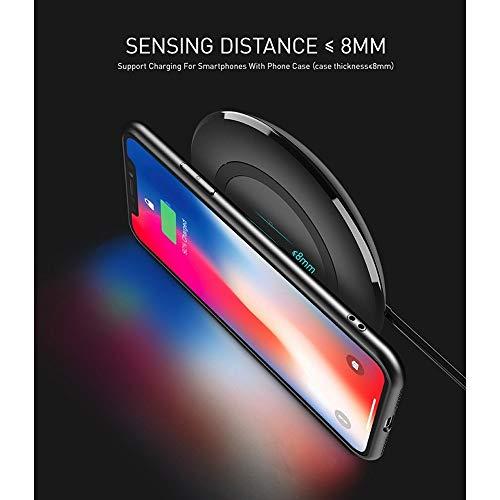 Draadloze oplader, spoel, draadloos, 10 W, voor Android smartphone, 7,5 W, voor iPhone XS/XR/X/8/8P, Wit