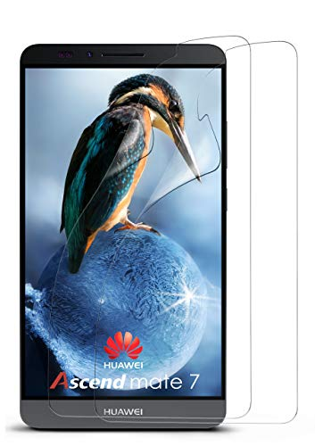 MoEx® Kristallklare HD Schutzfolie passend für Huawei Mate 7 | Premium Bildschirmfolie - Kratzfest & Fast unsichtbar - Ultra Klar