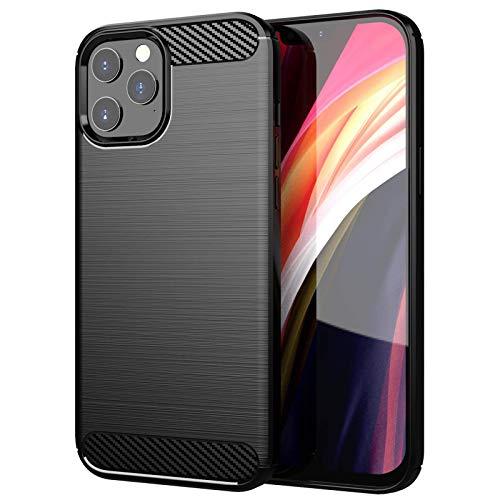 MP-France - Carcasa para Apple iPhone 12 Pro, fibra de carbono, color negro