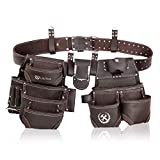 LAUTUS Oiled Tanned Rig Tool Belt/Pouch/Bag, Carpenter, Construction, Framers, Handyman, Electrician