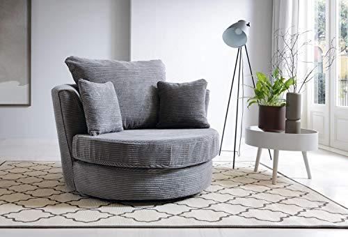 Abakus Direct Jumbo Full Swivel Chair - Grey