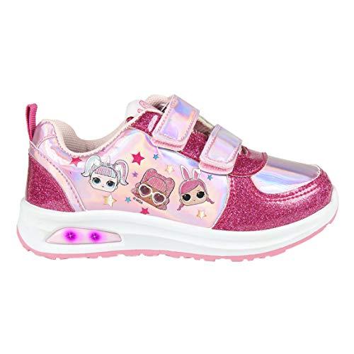CERDÁ LIFE\'S LITTLE MOMENTS Jungen LOL Surprise Kinderschuhe Licht | LED Schuhe Kinder Mädchen mit Offizieller Lizenz, Rosa, 31 EU