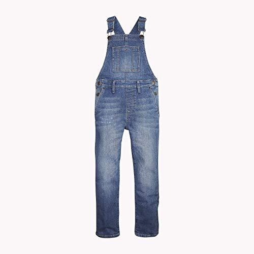 TOMMY HILFIGER Jungen Jeans Unisex Dungaree VABRST Blau (Varsity Blue Repair Stretch 911) 176 (Herstellergröße: 16)
