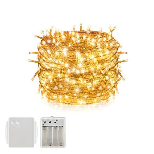 Batería LED Luz de la cadena Luz de hadas, Tersely Luces de hadas Navidad  Navidad Fiesta de jardín Decoración de boda (8 modos de luz, función de ...