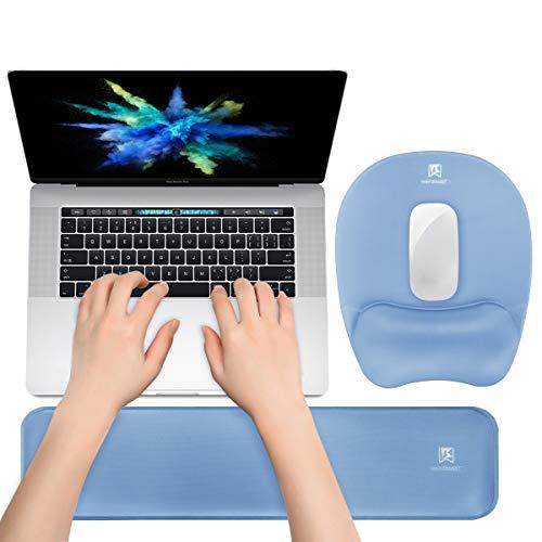 Memory Foam Set Keyboard Wrist Rest Pad & Mouse Wrist Rest Support,Ergonomic Design for Office,Home Office,Laptop,Desktop Computer,Gaming Keyboard - Blue