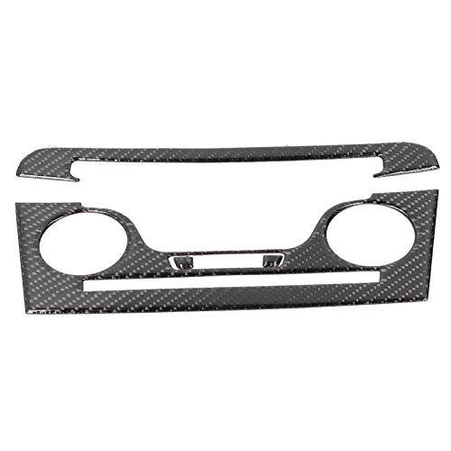 Qqmora Robusto Marco de Panel de CD de Fibra de Carbono Sofisticado para su vehículo para Cargador 2011-2014