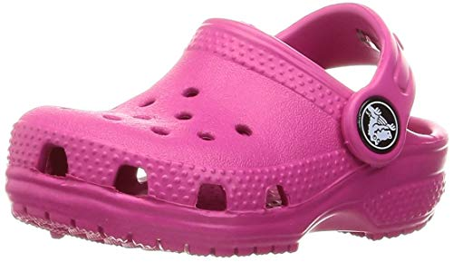 Crocs unisex child Classic | Slip on Shoes for Boys and Girls Water Shoes Clog, Candy Pink, 11 Little Kid US