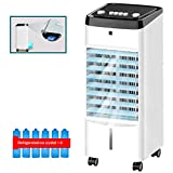 White Portable Air Conditioner, LED Display, Auto Shut-Off, Remote and Dehumidifier Function Digital Air Cooler,for Rooms up to 100 sq ft, Control with Remote