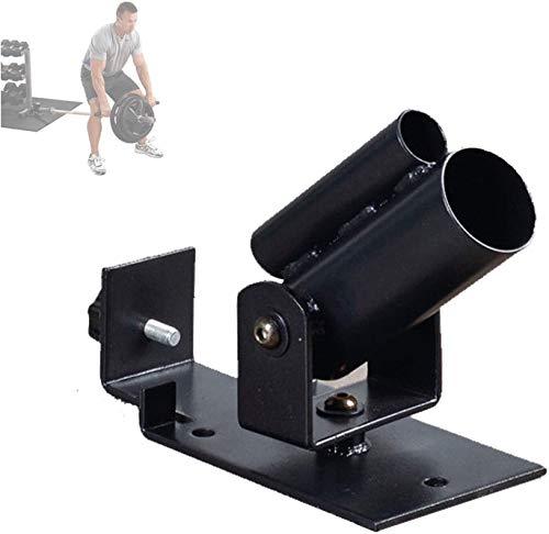 WSSCKT Resistente Barbell V-Bar Row Platform, Barbell T-Bar Row Placa Post Insertar Landmine para contratar músculos de la Espalda, Encaja con Barras olímpicas de 1'estándar y 2'