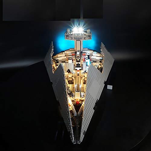 LODIY Beleuchtung LED Licht Set für Lego 75055 Star Wars Imperial Star Destroyer (Nicht Enthalten Lego Modell)