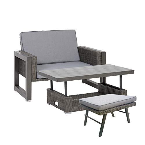 greemotion Marvao mobilier de Jardin, Aluminium, Gris