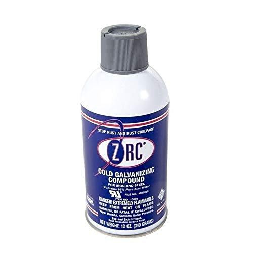 ZRC 10000 Cold Galvanizing Compound   12 Ounce Aerosol Can   Iron and Steel Corrosion Protection   Matches Hot-Dip Galvanized Performance   Contains 95-Percent Metallic Zinc