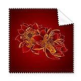 DIYthinker Red Lotus Flor de Loto Flor de la Planta de Semillas paño de vidrios del Trapo de Limpieza Limpiador de la Pantalla del teléfono 5 x Regalo