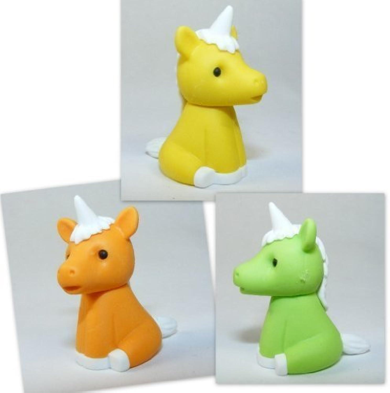 Iwako 3 Colours Magical Unicorn Japanese Erasers (3 pieces) by Iwako
